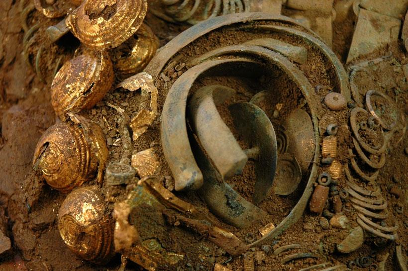 Le trésor de Mathay trouvé par un prospecteur