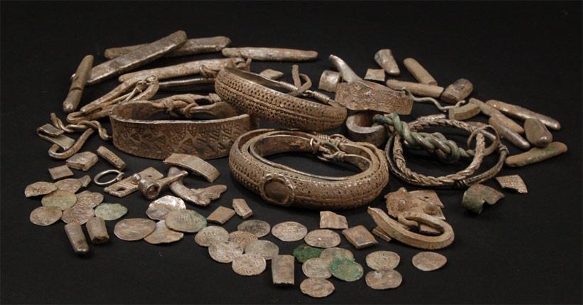 Tresor viking de silverdale trouvé par un utilisateur de détecteur de métaux