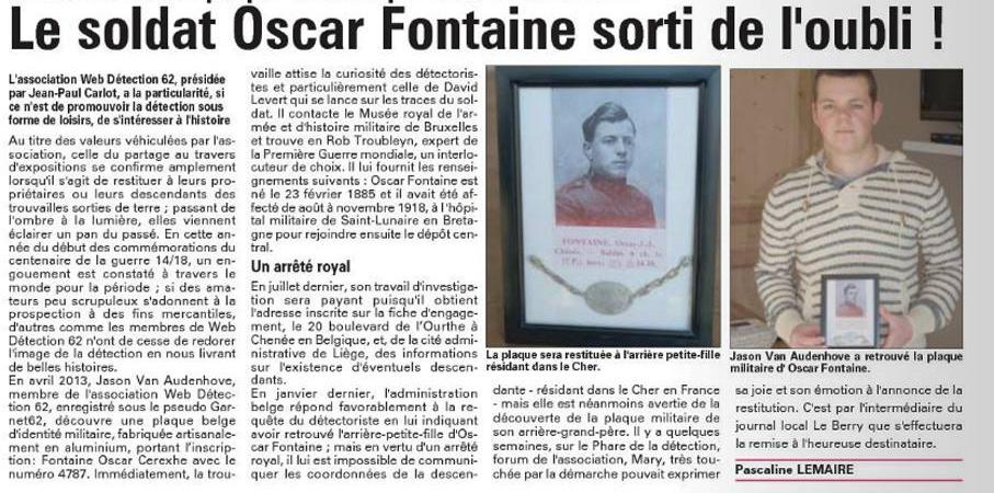 plaque de soldat belge