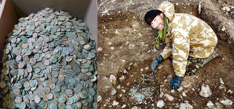 tresor de monnaies romaines en angleterre
