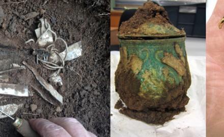 Tresor viking trouvé en ecosse avec un détecteur de métaux