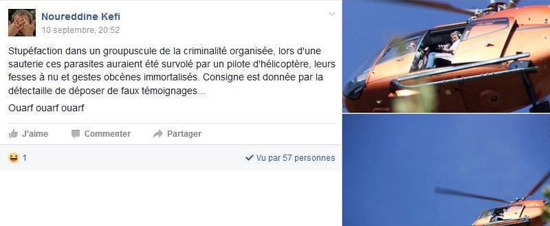 On retrouve toujours les mêmes hurluberlus avec leurs commentaires pathétiques. A droite la photo de l'Helicoptère.